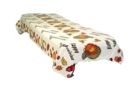 2 plastic tablecovers full coverage Thanksgiving Turkey  table cloths 54 x 108 - $7.91