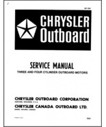 Chrysler 3 - 4 Cylinder Outboard Motor Service Repair Manual CD ....- 70... - $12.00