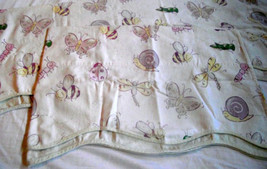 Waverly Bugs Valance Kids Dragonfly Bee Snail Butterfly Scalloped Insect... - $24.74