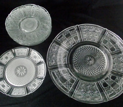 Crystal Cut Glass Plate Dish Dinner Dessert Cle... - $39.59