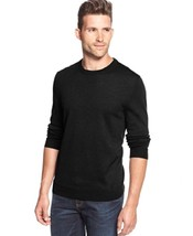 Club Room Solid Merino-Blend Crew-Neck Sweater, Black, Small - £28.49 GBP