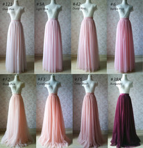 Dusty Rose High Waist Midi Tulle Skirt Dusty Rose Bridal Bridesmaid Tulle Skirts image 11