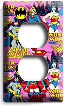 Supergirl Batgirl Wonder Woman Girls Comics Duplex Outlet Wall Plate Cover Decor - $8.99