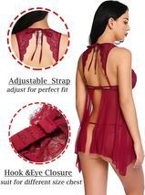 ADOME Lingerie for Women Lace Babydoll Nightdress Sexy Sleepwear Nightie with Ke image 5