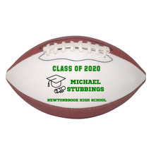 Personalized Custom Class of 2020 Graduation Mini Football Gift Green Text - $34.95