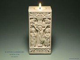 The Crucifixion - Medieval Sculpture Candle Holder
