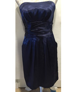 DAVID'S BRIDAL Blue Strapless Holiday Cocktail Party Elegant Sexy Dress ... - $39.99