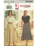 Butterick Sewing Pattern 3262 Misses Womens Flared Skirt Size 6 8 10 12 14 New - $9.99