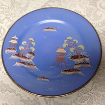 Vintage, Japan, Moriage, Variant Gaudy Blue Willow  7.5in Snack Plate - $17.05