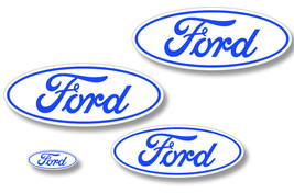 Front,Rear,Steering Wheel Decals Sticker Oval Overlay For Ford Edge 07-1... - $29.65