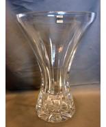 Samobor Hand Cut Lead Crystal Vase from Yugoslavia - $16.99