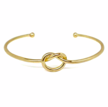 Adjustable Gold Knot Bracelet, 18K Gold  plated Love Knot Bracelet - $10.00