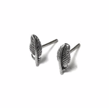 Tiny 925 Sterling Silver Feather Stud Earrings, Dainty Silver Feathers, Feather  - $11.50