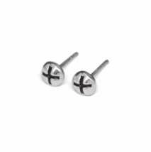 Silver Screw Stud Earrings, 925 Sterling Silver Hardware Studs, Phillips Studs - $12.50