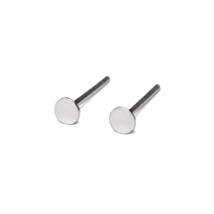 Tiny Silver Circle Shape Stud Earrings, 3mm/4mm 925 Sterling Silver Earrings - $5.50