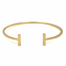 Gold Bar Bangle Bracelet, Gold plated Bar Bracelet, Stacking Bangles - $10.00
