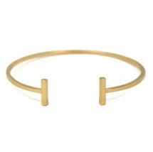Gold Bar Bangle Bracelet, Gold plated Bar Bracelet, Stacking Bangles - $10.00