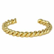 Gold Twisted Cuff Bracelet, Stacking Bracelets, Gift Ideas - $10.00