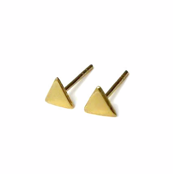0a5cbeba0 Img 3796191259 1481334717. Img 3796191259 1481334717. Previous. Gold Triangle  Stud Earrings, Small 5mm Gold Plated Sterling Silver Earrings