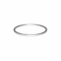 Ultra Thin Silver Ring, Solid 925 Sterling Silver, Tiny Stacking Band Ring  - $5.00