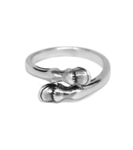 Sterling Silver Horse Hoof Ring, Solid 925 Sterling Silver, Equestrian H... - $18.65