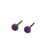 Wild Iris Stud Earrings with Sterling Silver  Posts and Backs, Tiny Purp... - $13.50