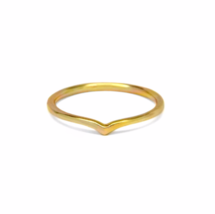 Gold Chevron Ring, Simple 14K Gold over Solid Sterling Silver Rings - £8.46 GBP