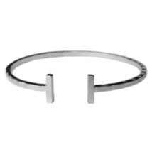 Bar Bangle Bracelet, Silver Plated Bar Bracelet, Gold Plated Bar Bracelet - $10.00