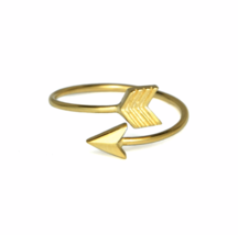 Gold Arrow Ring, Simple Arrow Ring, Gold over Sterling Silver Rings - $13.65