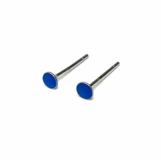 Tiny 2.75mm Stud Earrings, Choose Your Color 925 Sterling Silver Earrings for sale  USA
