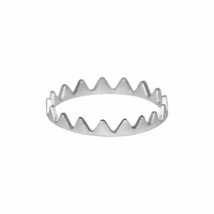 Thin Silver Crown Ring, Solid 925 Sterling Silver Rings, Minimalist Jewelry - $12.65