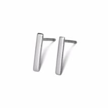 Dainty Sterling Silver Bar Stud Earrings, 925 Sterling Silver Studs  - $15.50