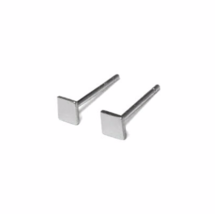 Tiny Silver Square Stud Earrings, 3mm Sterling Silver Earrings, Square Earrings - $6.50