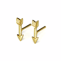 Tiny Gold Arrow Stud Earrings, Small Archery Arrows, Cupids Arrow, Gifts for Her - $13.90