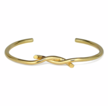 Gold Intertwined Cuff Bracelet, Adjustable Gold tone Twine Bracelet, Gif... - $9.00