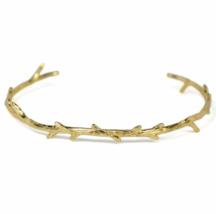 Gold Twig Bangle Bracelet, Adjustable Gold plated Branch Bracelet, Gold ... - $11.00
