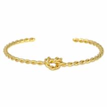 Twisted Gold Knot Bracelet, Gold Plated Twist Unity Love Knot Bracelet - $9.00