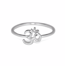 Silver Om Ring, Solid 925 Sterling Silver Jewelry, Namaste Chakra Jewelry - $13.50