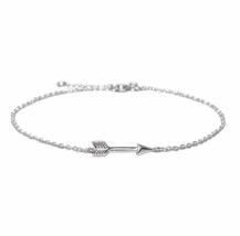 Tiny Silver Arrow Bracelet, 925 Sterling Silver Bracelet, Bridesmaid Gift  - $13.65