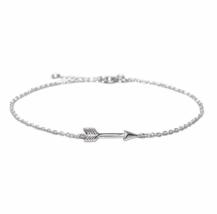 Tiny Silver Arrow Bracelet, 925 Sterling Silver Bracelet, Bridesmaid Gift  - $13.65