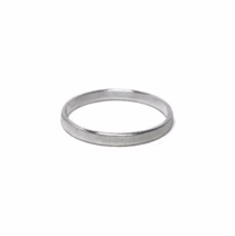 Thin Silver Ring, 925 Sterling Silver Rings, Wedding Band, Men's Ring Ba... - £11.51 GBP