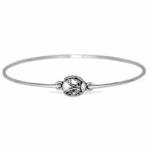 Silver Ladybug Bracelet, Silver Plated Ladybug Charm Bangle Bracelet - $7.00