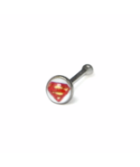 Tiny Silver Superman Nose Stud, 925 Sterling Silver Jewelry, Superman He... - $3.00