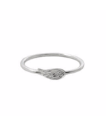 Dainty Sterling Silver Angel Wing Ring, Delicate Solid 925 Sterling Silver - $278,96 MXN