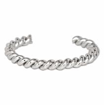 Silver Twisted Cuff Bracelet, Stacking Bracelets, Gift Ideas - $10.00