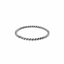 Ultra Thin Sterling Silver Twist Ring, 925 Silver Rope Twisted Stacking ... - $5.85