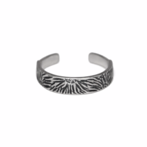 Adjustable Silver Animal Print Ring, 925 Sterling Silver Toe Ring - $9.00