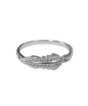 Dainty Sterling Silver Feather Ring, 925 Sterling Silver Ring - $19.50