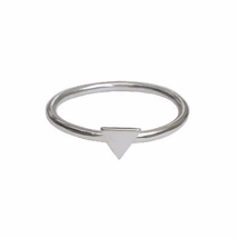 Thin Sterling Silver Tiny Triangle Ring, 925 Sterling Silver Rings - $12.50