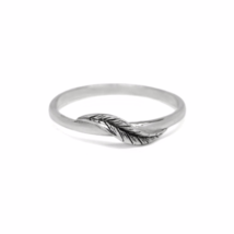 Organic Silver Leaf Ring, 925 Sterling Silver Ring, Silver Jewelry, Natu... - $13.50